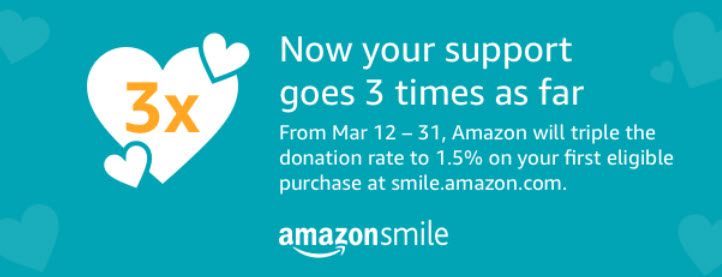 Amazon Smles Will Donate 3X the Money